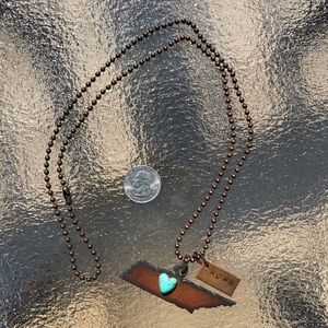 Tennessee/Nashville Heart Home Necklace